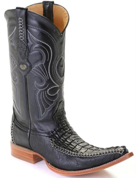 Buy KA5885 caiman ~ World Best Alligator ~ Gator Skin Tail Croc Black Los Altos Men's Cowboy Boots Western Classics Riding