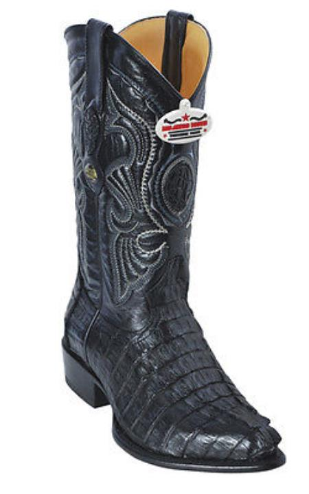 Buy KA6631 caiman ~ World Best Alligator ~ Gator Skin Tail Croc Black Los Altos Men's Cowboy Boots Western Classics Riding