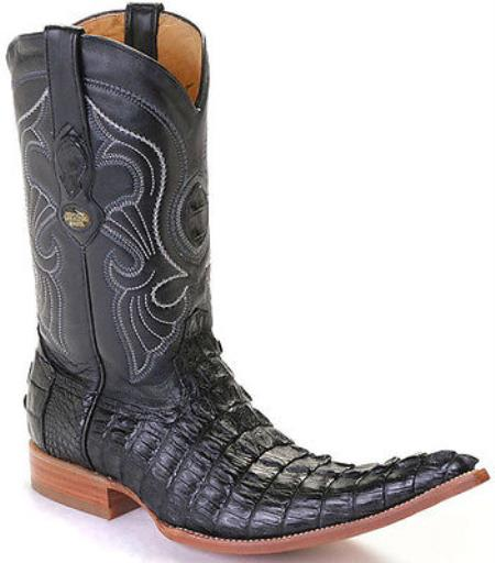 Buy KA5610 caiman ~ World Best Alligator ~ Gator Skin Tail Croc Black Los Altos Men's Cowboy Boots Western Classics Riding