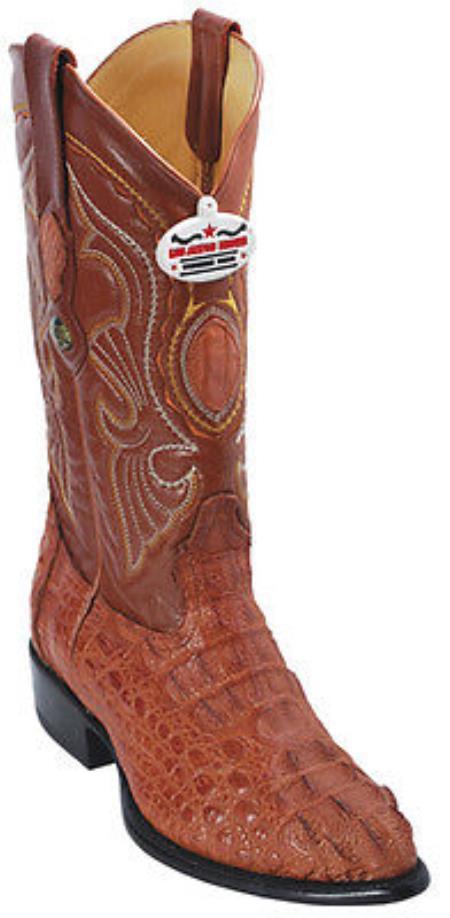 Buy KA6932 caiman ~ World Best Alligator ~ Gator Skin Hornback Cognac Brown Vintage Los Altos Men's Cowboy Boots Western Riding