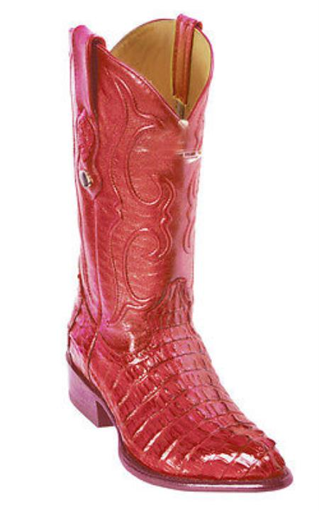 Buy KA5580 caiman ~ World Best Alligator ~ Gator Skin Tail Vintage Riding Red Los Altos Men's Western Boots Cowboy Classics