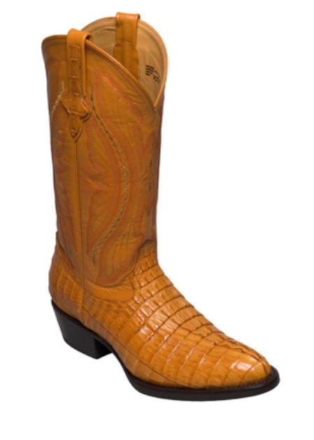 SKU#RL8937 caiman ~ alligator Tail Crocodile ~ Alligator  - R Toe Buttercup $329