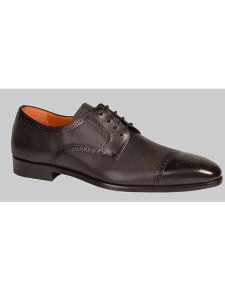 Buy GD481 Men's Black Lace Sleek Style Leather Handmade Shoes Authentic Mezlan Brand