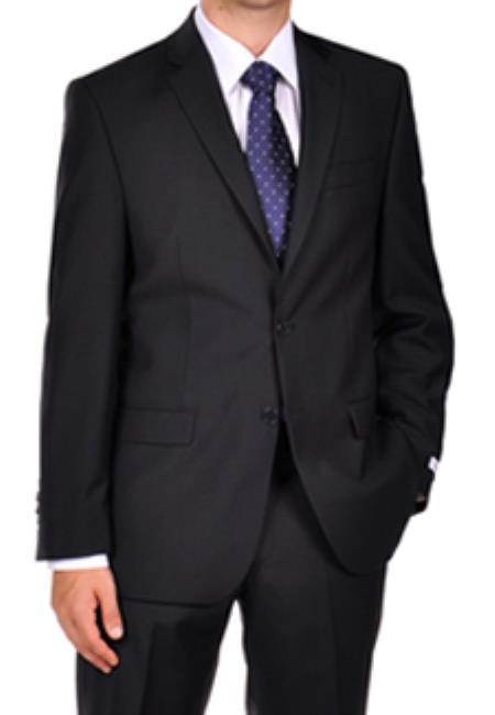 Calvin Klein Dark Navy Blue Suit For Men Tonal Stripe ~ Pinstripe Dress Suit Separates