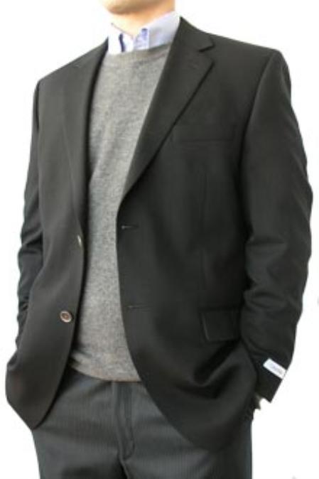 SKU#KQP232 Cotton Summer Light Weight 2 Button Superfine Cotton Metal Buttons Side Vents Black $185