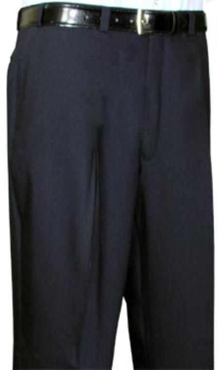 SKU#FJU643 Cotton Summer Light Weight Black Flat Front Pant $69