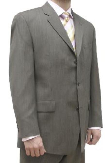 SKU#LLK323 Cotton Summer Light Weight Brown Pin Dot Single Breasted 3 Button Side Vents Flat Front Pant $259