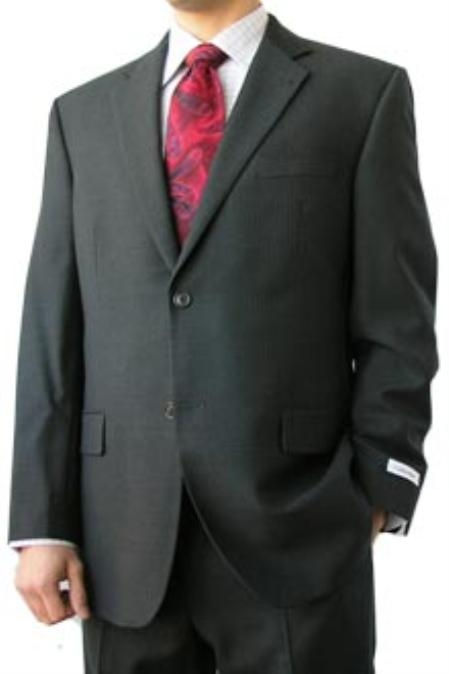SKU#GHG323 Cotton Summer Light Weight Grey Shadow Stripe 2 Button Side Vents Flat Front Pant Mens Suit $259