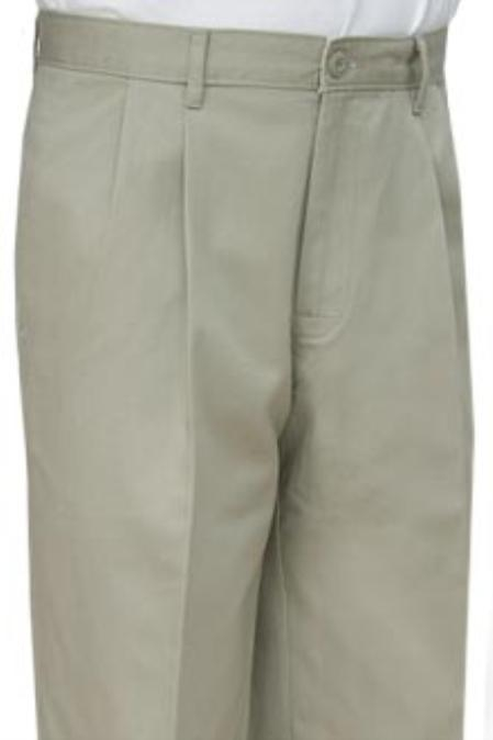 SKU#CSA331 Cotton Summer Light Weight Khaki Color Khakis