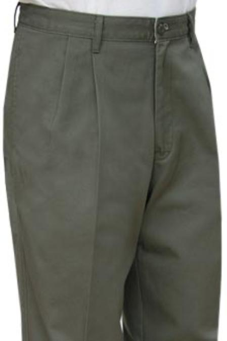 SKU#GJK441 Cotton Summer Light Weight Olive Khakis $69