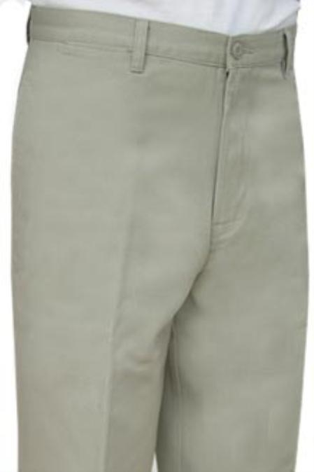 SKU#MBK512Cotton Summer Light Weight Oyster Khakis Pleated and Flat Front