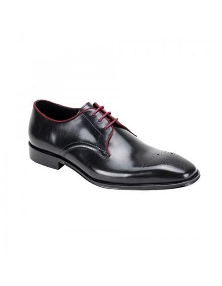 Buy KH174 Men's Genuine Cap Toe Oxford Lace Cole Black Leather Dress Casual Shoes