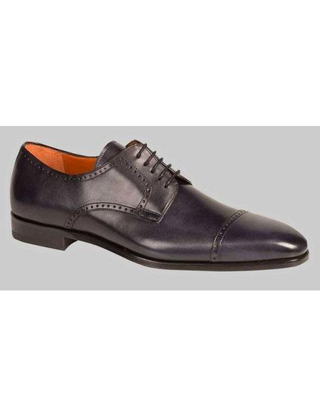 Buy GD483 Men's Cap Toe Black Antiqued Italian Leather Oxford Shoes Authentic Mezlan Brand