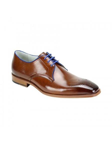Buy KH173 Men's Cole Caramel Genuine Cap Toe Oxford Lace Leather Dress Casual Shoes