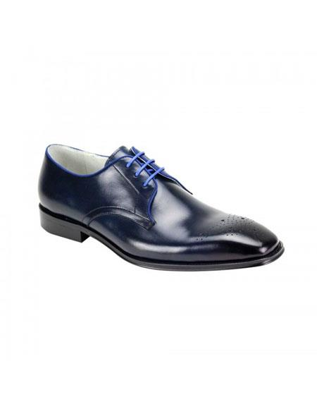 Buy KH231 Genuine Cap Toe Oxford Lace Cole Navy Leather Dress Casual Shoes