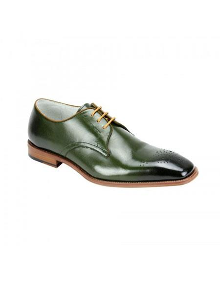 Buy KH171 Men's Genuine Cap Toe Oxford Lace Cole Olive Leather Dress Casual Shoes