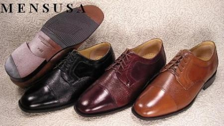 SKU# CLS642 Captoe five eyelet blucher with nappa. Leathersole. $99