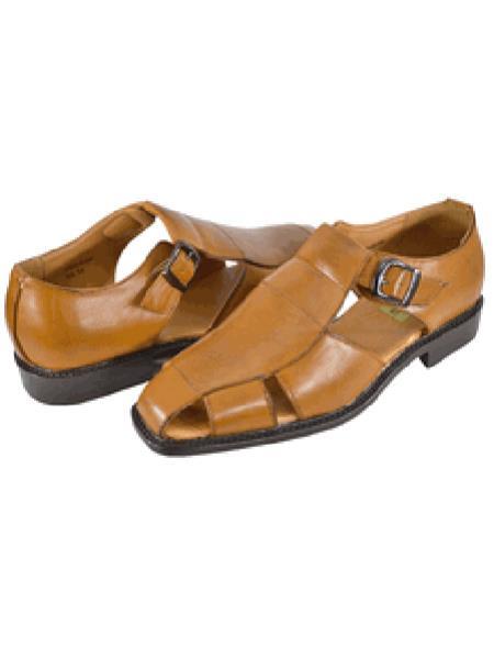 Mens Brown Casual Sandal Shoe