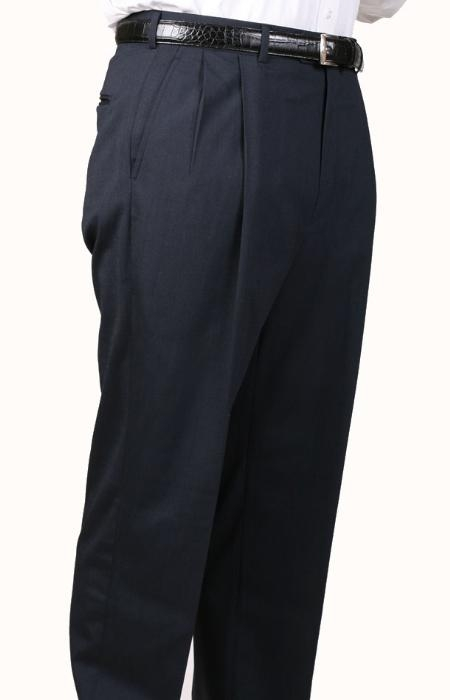 SKU#AL9235 Char Blue Parker Pleated Pants Lined Trousers $99