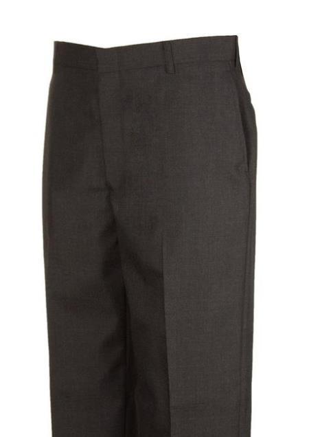 Charcoal Dress Pants unhemmed unfinished bottom