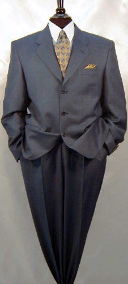SLK2 $1295 Expensive Half Canvas Quality Darkest Heather Charcoal Gray  3 Button Wool Suit Notch Lapel Side Vented