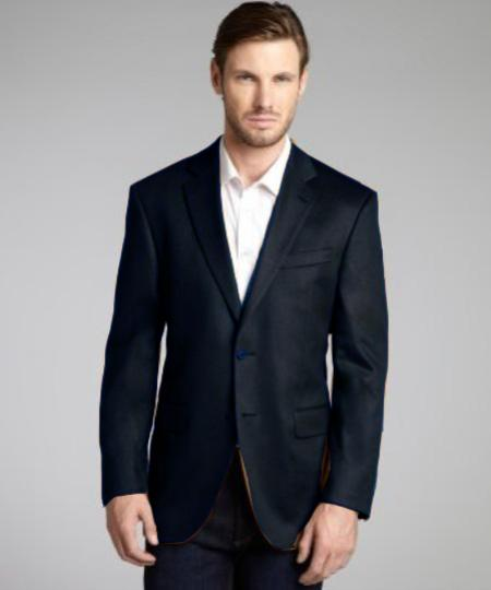Model Charles Charcoal Wool & Cashmere Blend 2 Button Blazer