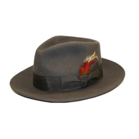 Charcoal Wool Fedora Hat