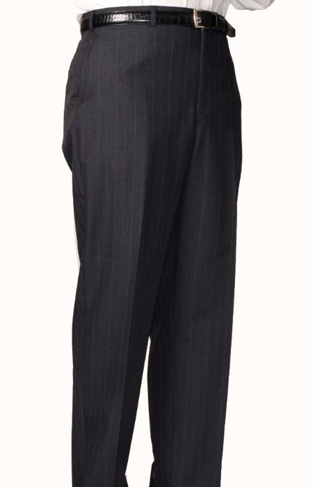 SKU#CB2804 Charcoal Blue Bond Flat Front Trouser $69