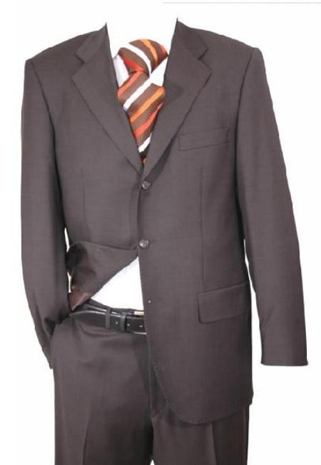 R&B_TS19 $795 NWT Charcoal Super 140s Wool 3-Button Flat Front Pants premier quality italian fabric Suit $175