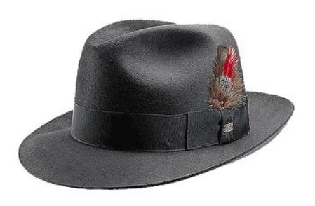SKU# B02 Charcoal Untouchable Fedora Hat Very Soft and Silky Sovereign Quality Finish $55