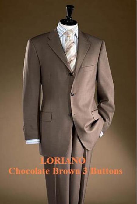 SKU# CTI712 Chocolate Brown 4 Buttons Men