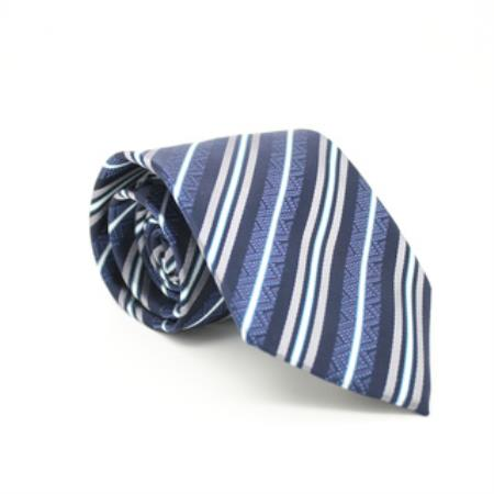 Classic Blue Striped Necktie