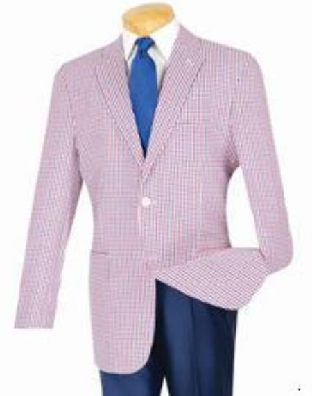 Fit Sportcoat Red-Blue