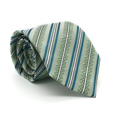 Classic Green Striped Necktie