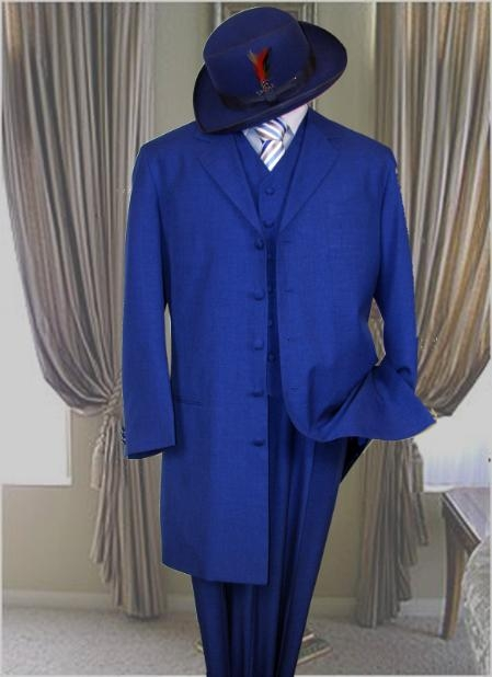 Classic Long Royal Blue Fashion Zoot Suit