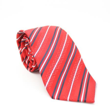 Classic Red Striped Necktie
