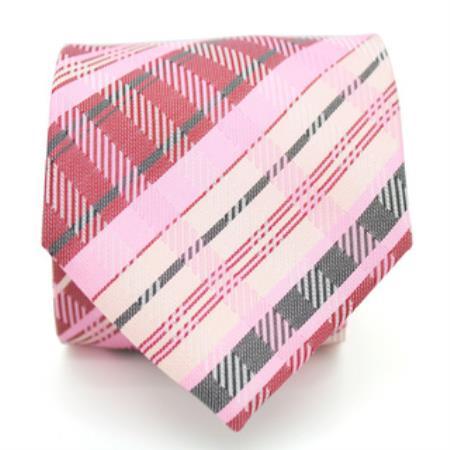 Slim Pink Glen Necktie