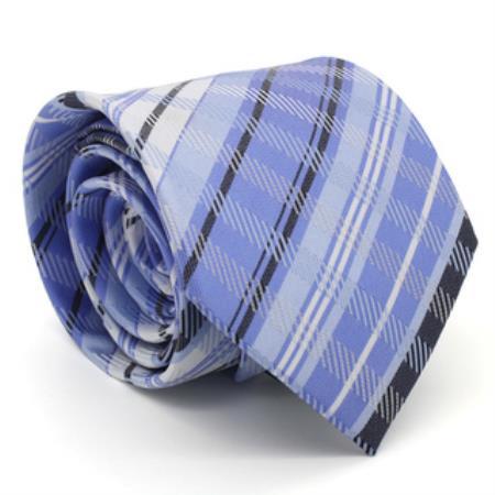 Buy KA9736 Classic Slim Purple Glen Necktie Matching Handkerchief - Tie Set