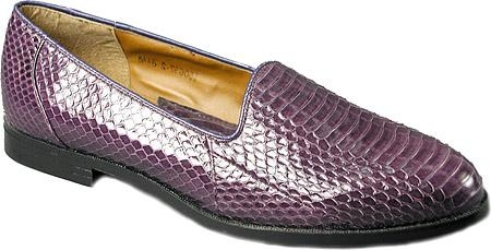 SKU#ER15063 Classic Purple Color pump in genuine snake skin upper on durable man-made sole $139
