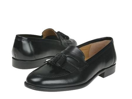 SKU# 65433 Classic moc slipon with kiltie/tassel in shiny brush-off leather. Leather sole $99