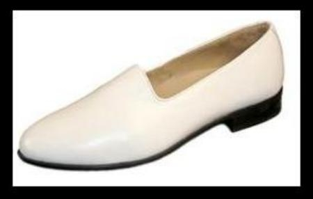 SKU#  24437  White Classic pump in fine kid skin upper with genuine leather sole $89
