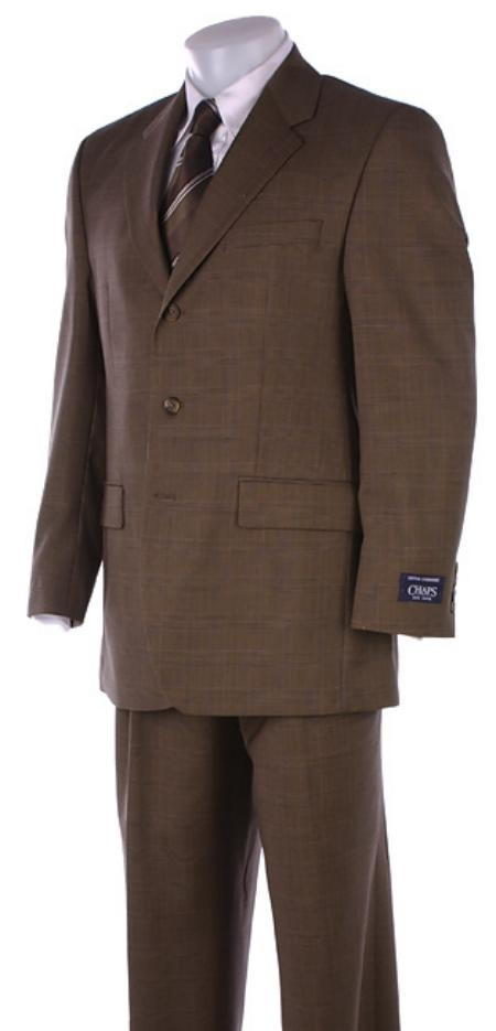 SKU# TR76 CoCo Brown Mens Suits Super 150s Wool Mens Suits $195