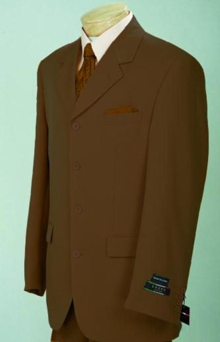SKU#C74 Coffe Brown (Light Brown(Not Dark)) Comes in 3 & 4 Button Light Weight On Sale $109