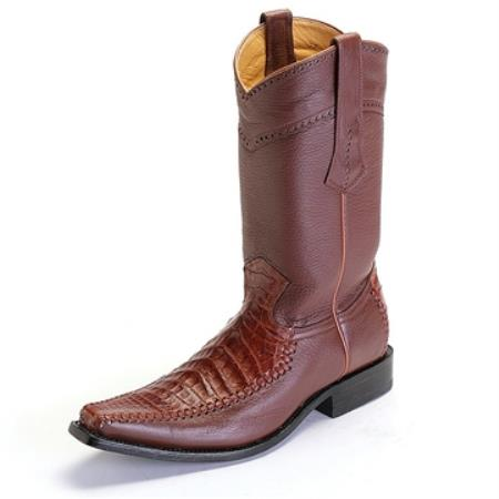 Los Altos Boots Cognac caiman ~ World Best Alligator ~ Gator Skin Crocodile