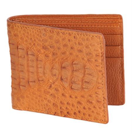 SKU#COG1577 Wallet ~ billetera ~ CARTERAS Cognac Genuine Crocodile Card Holder Wallet