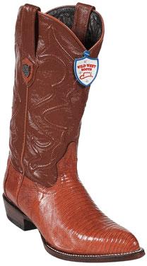 Wild West Cognac Teju Lizard Cowboy Boots
