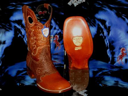 Buy Z-37R Wild West Square Cognac Genuine Shark Rodeo Western Cowboy Boot