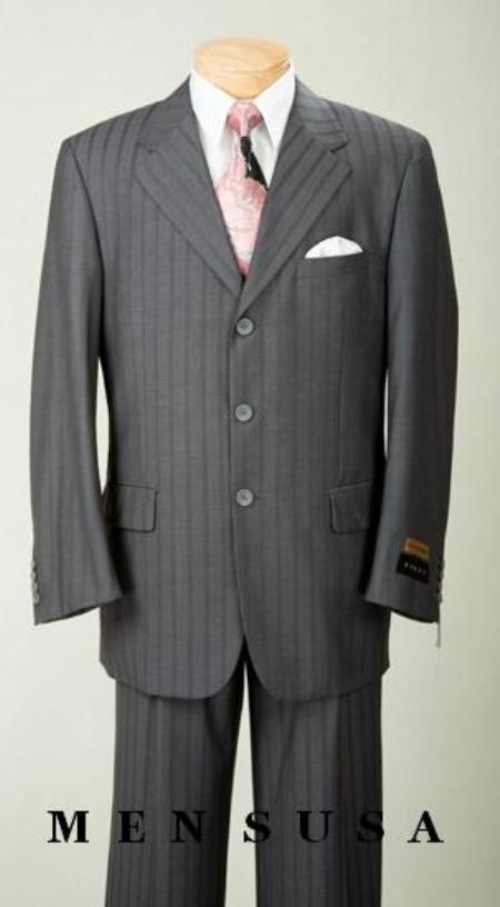 SKU#AG21 $1295 UMO Collezion Nicest Charcoal Gray Ton On Ton Shadow Pinstripe 2 or 3 Button $295