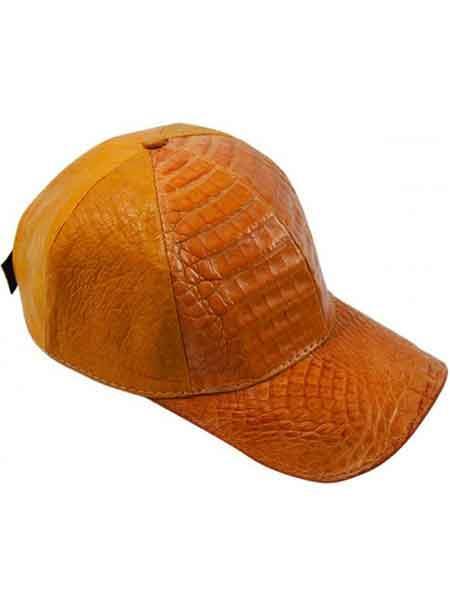 Genuine Baseball Cap Ostrich World Best Alligator ~ Gator Skin Copper CACHUCHA DE COCODRILO Exotic Skin