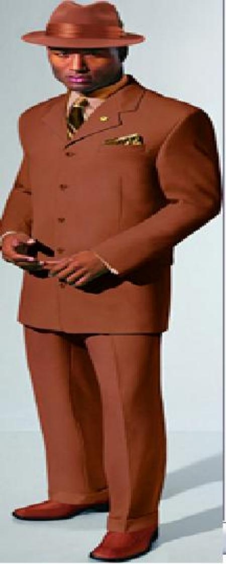 SKU# 5BZTV139 Copper Fashion 5 Buttons Vested Fashion Suit  $139